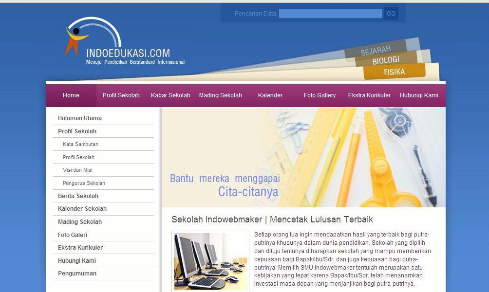 Berikut ini contoh website sekolah yang dapat sahabat lihat …
